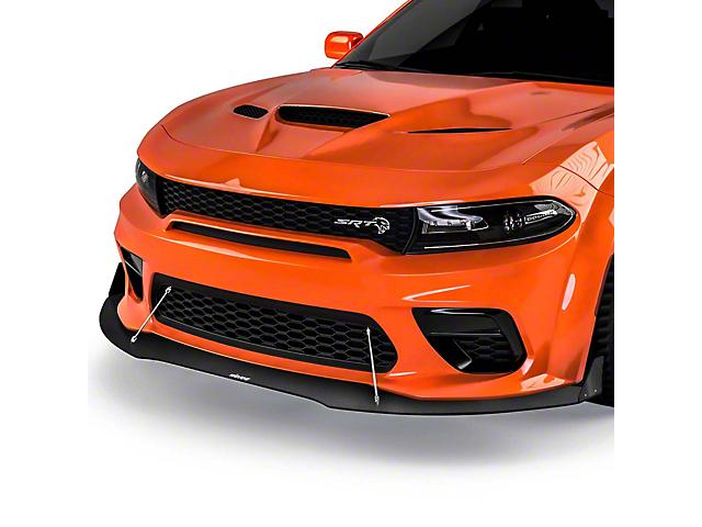 VR3 Front Bumper Lip Splitter; Gloss Carbon Fiber (20-21 Widebody)
