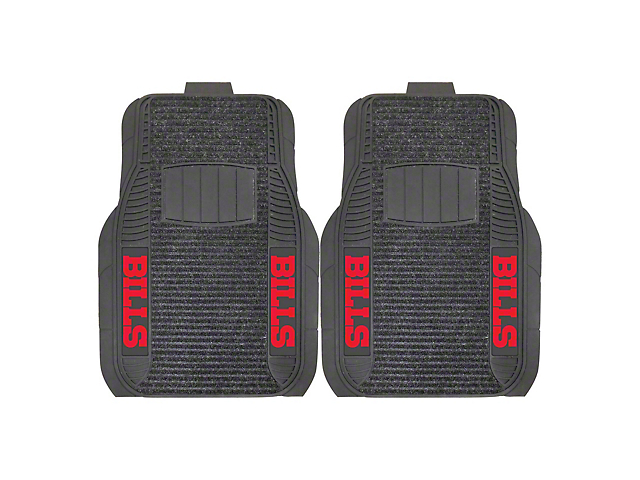 Molded Front Floor Mats with Buffalo Bills Logo (Universal Fitment)