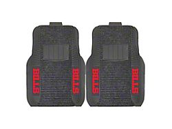 Molded Front Floor Mats with Buffalo Bills Logo (Universal; Some Adaptation May Be Required)