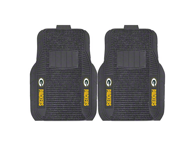 Molded Front Floor Mats with Green Bay Packers Logo (Universal Fitment)