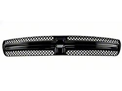 Grille Overlay; Gloss Black ABS 1 Pieces Tape-On (15-17 Charger)