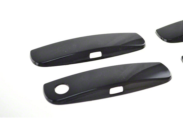 Exterior Door Handle Cover; Gloss Black ABS 4 Pieces Tape-On (2011 Charger)