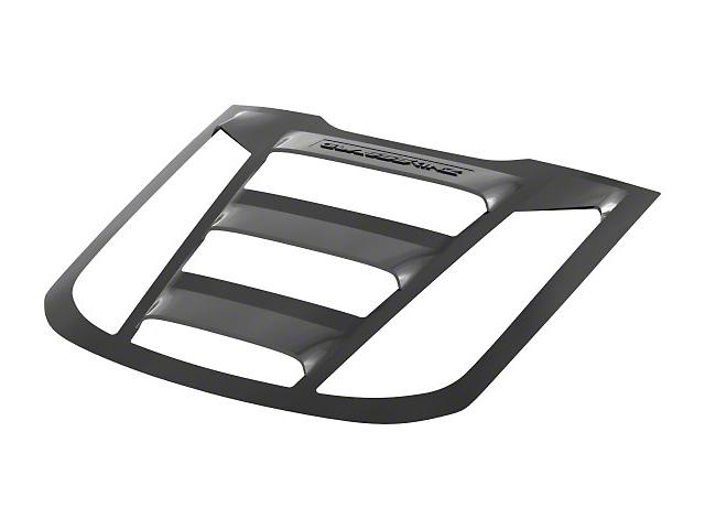 Tekno 2 Rear Window Louver; Satin Black (11-21 All)