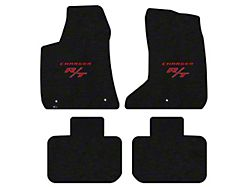 Lloyd Velourtex Front and Rear Floor Mats with Red R/T Logo; Black (11-21 AWD)