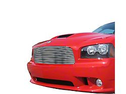 Stainless Steel Billet Upper Grille; Silver Hairline (06-10 All)