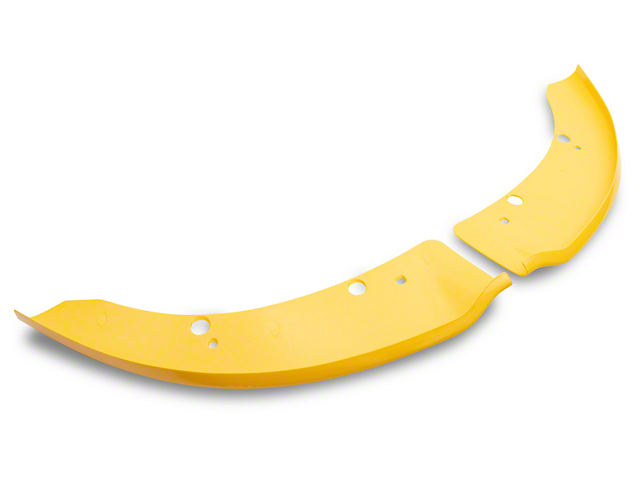 Front Bumper Lip Splitters; Gloss Yellow (15-21 Scat Pack, SRT)
