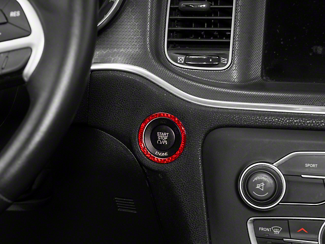 Alterum Ignition Switch Trim; Red Carbon (10-21 All)