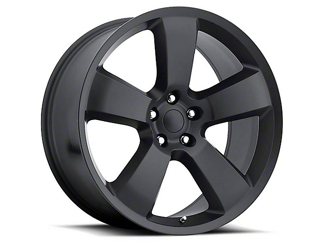 Charger SRT8 Style Satin Black Wheel; 20x9 (08-21 All, Excluding AWD & Demon)