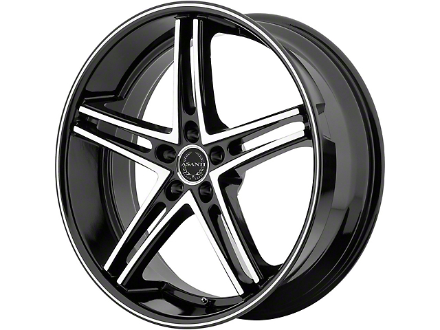 Asanti Mach Gloss Black Machined Wheel; 22x10; Rear Only (08-21 All, Excluding AWD & Demon)