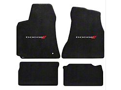 Lloyd Ultimat Front and Rear Floor Mats with Dodge Logo; Black (06-10 All)