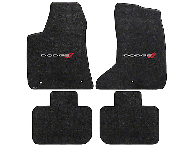 Lloyd Ultimat Front and Rear Floor Mats with Dodge Logo; Black (11-21 AWD)