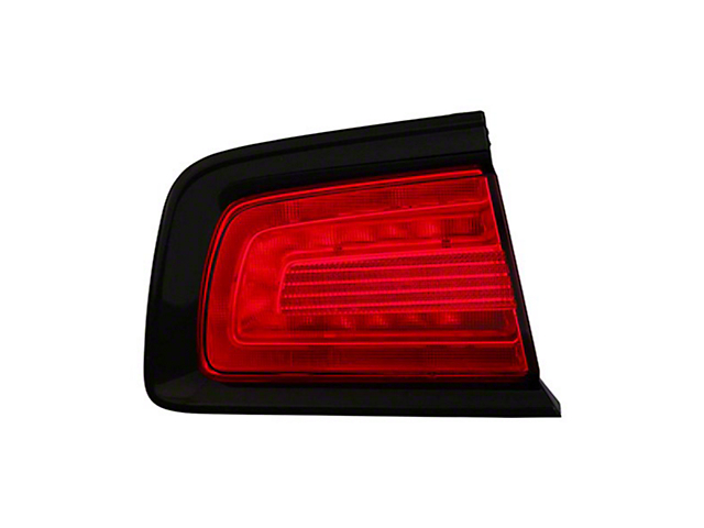 Outer Tail Light; Black Housing; Red Lens; Passenger Side; CAPA Certified Replacement Part (11-14 Charger)