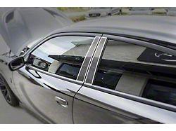 Door Pillar Trim; Plain; Carbon Fiber; With Polished Trim; 4-Piece (11-18 All)