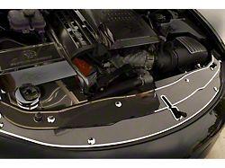 Front Header Plate; Carbon Fiber with Polished Trim (15-18 All)