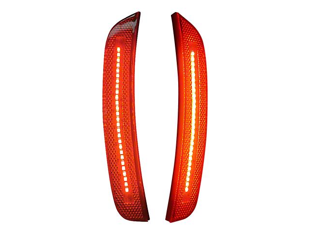 LED Front Side Marker Lights; Red (15-21 All, Excluding Widebody)