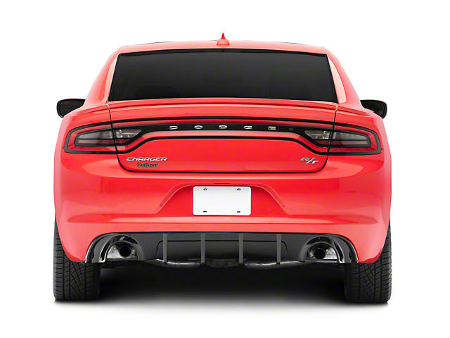 SXT Style Rear Diffuser; Gloss Black (15-18 R/T; 15-21 SE, SXT with Round Exhaust Tips)