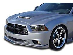 Ram Air Hood with Carbon Fiber Blister; Unpainted (11-14 All)