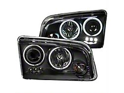 CCFL Halo Projector Headlights; Black Housing; Clear Lens (06-10 w/ Factory Halogen Headlights)