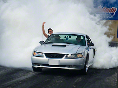 Participate in Burnout Competition (Make-A-Wish Donation)