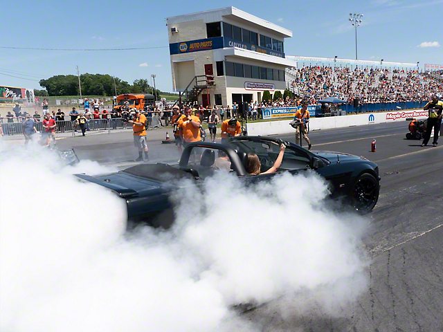 Participate in Mickey Thompson Burnout Competition (Make-A-Wish Donation)
