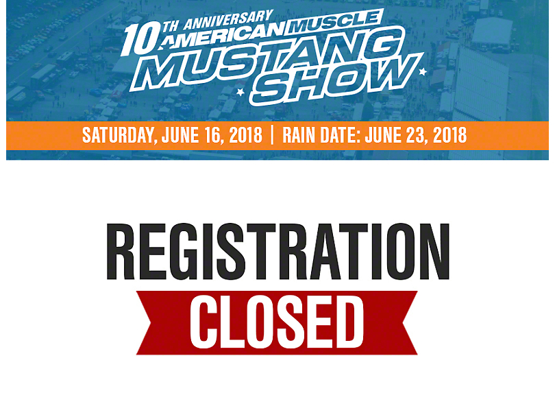 10th Annual AmericanMuscle Mustang Show Registration 2018