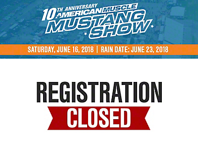 10th Annual AmericanMuscle Mustang Show Registration w/ VIP Parking