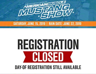 11th Annual AmericanMuscle Mustang Show Registration w/ VIP Parking