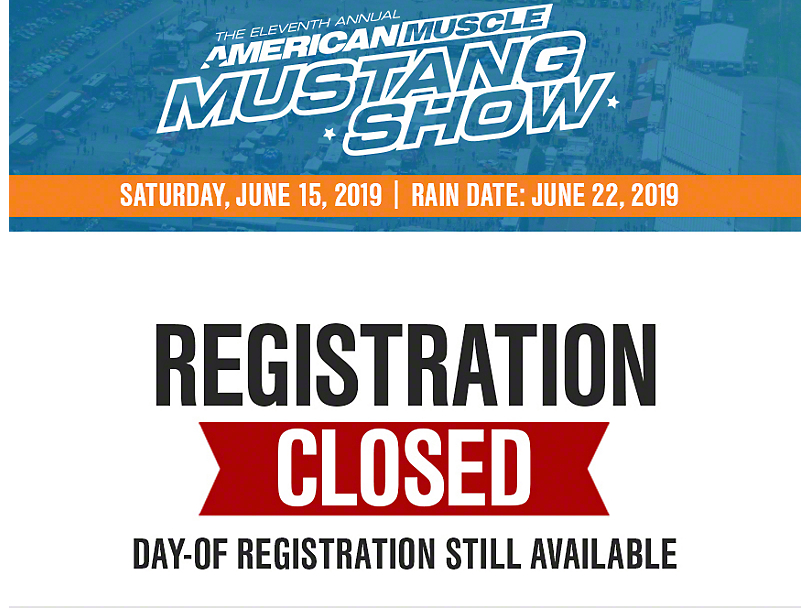 11th Annual AmericanMuscle Mustang Show Registration