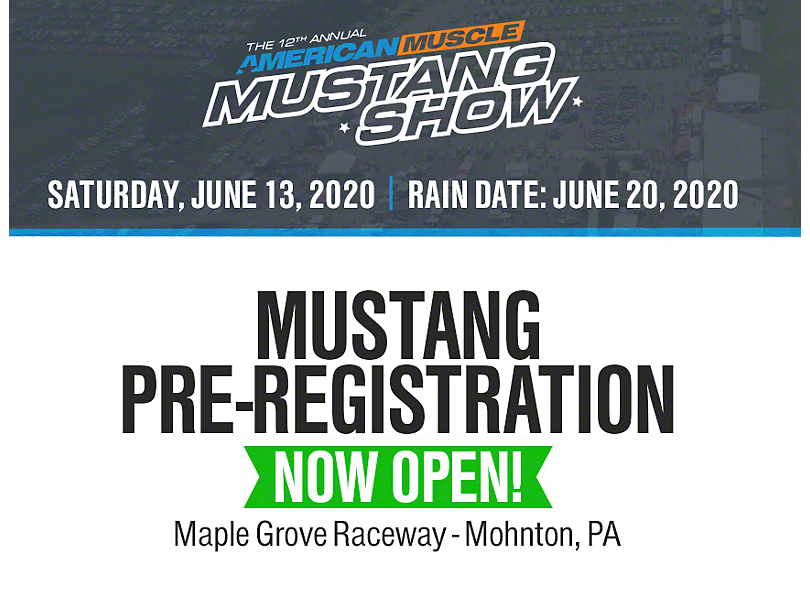 12th Annual AmericanMuscle Mustang Show Registration