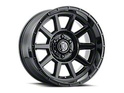 ICON Alloys Recoil Gloss Black 6-Lug Wheel; 20x10; -24mm Offset (19-21 Sierra 1500)