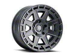 ICON Alloys Compass Satin Black 6-Lug Wheel; 17x8.5; 0mm Offset (05-15 Tacoma)