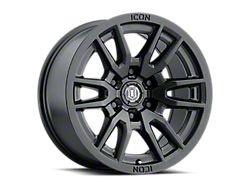 ICON Alloys Vector 6 Satin Black 6-Lug Wheel; 17x8.5; 25mm Offset (19-22 Silverado 1500)