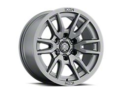 ICON Alloys Vector 6 Titanium 6-Lug Wheel; 17x8.5; 25mm Offset (19-22 Silverado 1500)