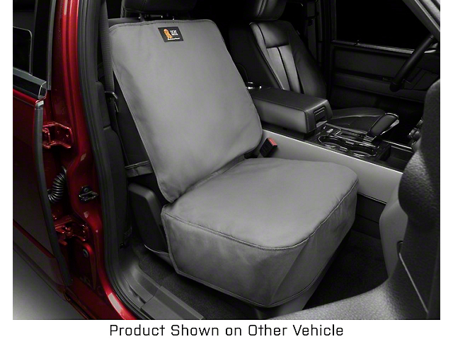Weathertech Front Seat Protector; Gray (05-21 Tacoma w/ Bucket Seats)