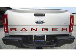 Tailgate Insert Letters; Gloss Red (19-21 Ranger)