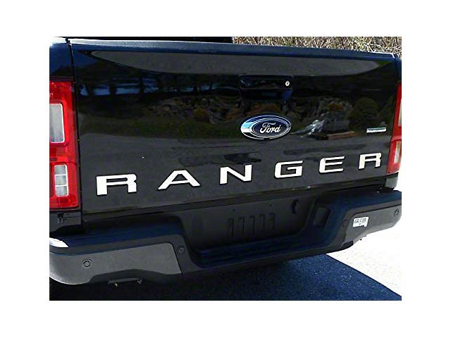 Tailgate Letter Inserts; Stainless Steel (19-21 Ranger)