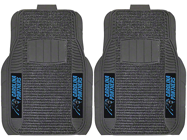 Molded Front Floor Mats with Carolina Panthers Logo (Universal Fitment)