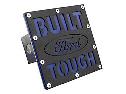 Built Ford Tough Class III Hitch Cover; Rugged Black (Universal; Some Adaptation May Be Required)