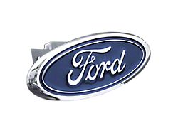 Ford Class II Hitch Cover; Chrome (Universal; Some Adaptation May Be Required)
