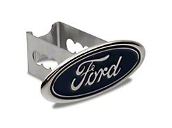 Ford Hitch Cover; Chrome (Universal; Some Adaptation May Be Required)