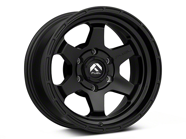 Fuel Wheels Shok Matte Black 6-Lug Wheel; 17x9; -12mm Offset (05-15 Tacoma)