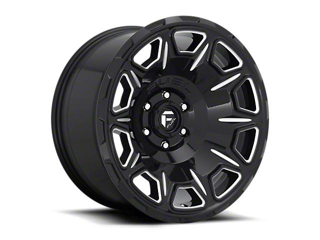 Fuel Wheels Vengeance Gloss Black Milled 6-Lug Wheel; 17x9; -12mm Offset (16-21 Tacoma)
