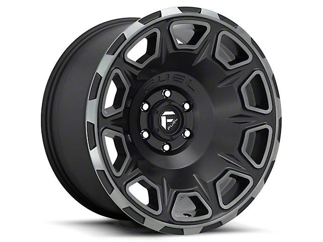 Fuel Wheels Vengeance Matte Black Double Dark Tint 6-Lug Wheel; 17x9; -12mm Offset (16-21 Tacoma)
