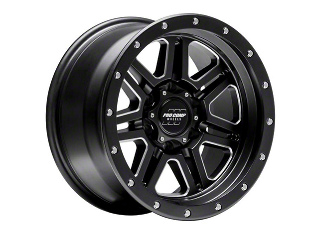 Pro Comp Wheels 62 Series Apex Satin Black Milled 6-Lug Wheel; 17x9; -6mm Offset (05-15 Tacoma)