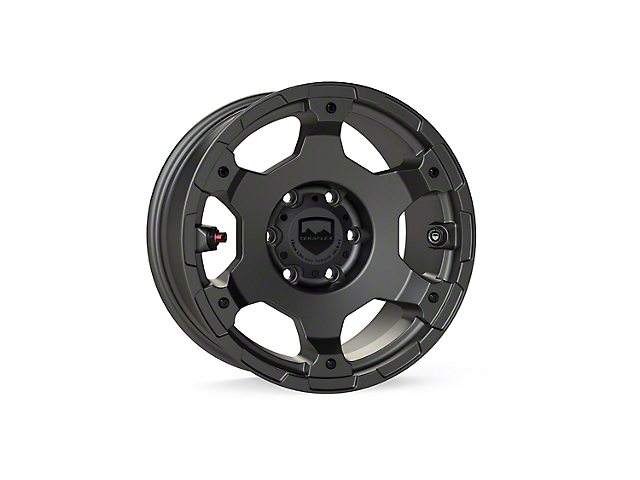 Teraflex Nomad Off-Road Base Titanium Gray 6-Lug Wheel; 17x8.5; 0mm Offset (05-15 Tacoma)