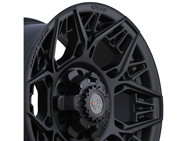 4Play 4PS60 Satin Black 6-Lug Wheel; 17x9; 0mm Offset (16-21 Tacoma)