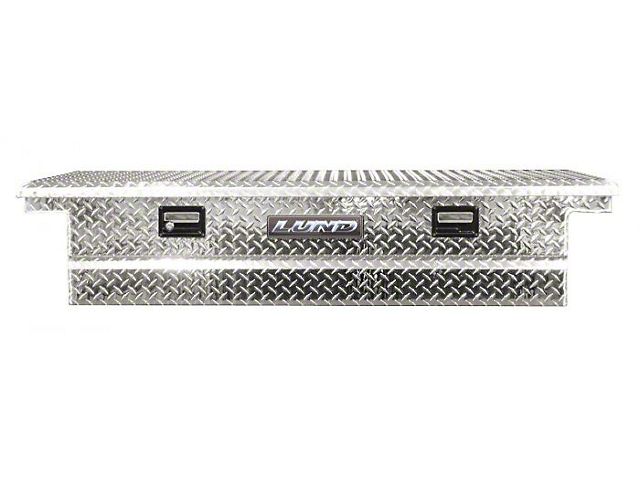 70-Inch Aluminum Low Profile Economy Crossover Tool Box; Brite (Universal; Some Adaptation May Be Required)