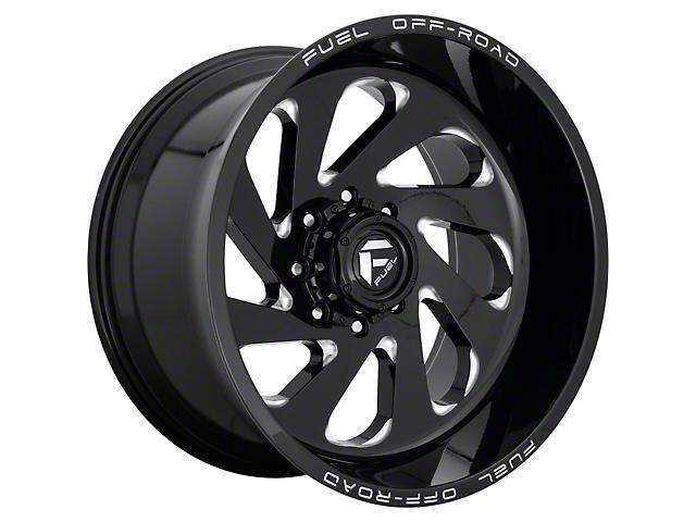 Fuel Wheels Vortex Gloss Black Milled 6-Lug Wheel; 20x10; -19mm Offset (05-15 Tacoma)