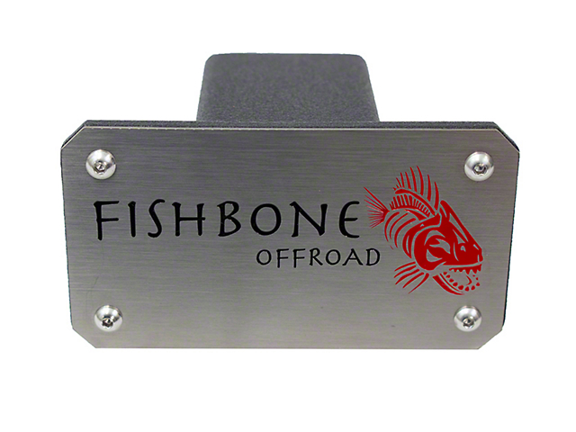 Fishbone Offroad 2-Inch Receiver Hitch Cover (Universal; Some Adaptation May Be Required)