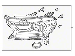 Ford Factory Replacement Halogen Headlight; Black Housing; Clear Lens; Driver Side (19-21 Ranger)